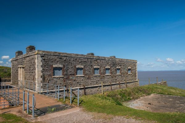 Brean Down Fort photo, The officers' quarters exterior