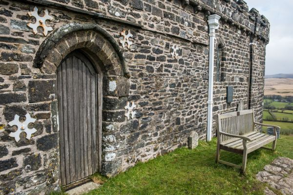Brentor Church photo, The blocked south doorway