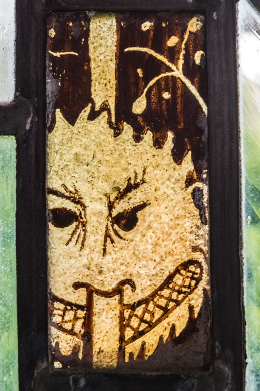 Medieval glass fragment