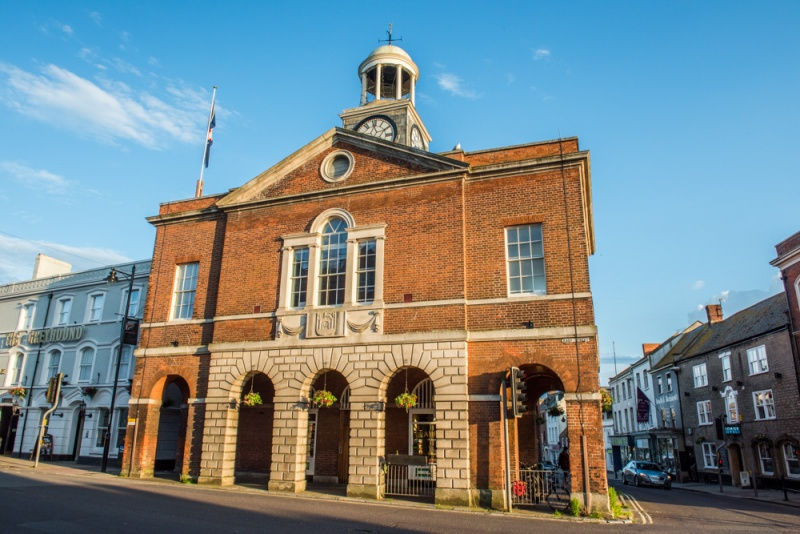 Bridport's historic Town Hall