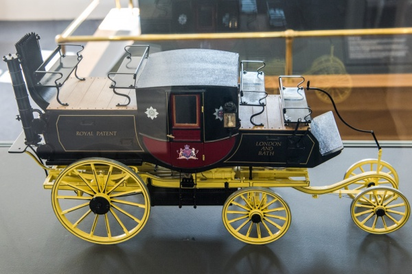 A model of Gurney's 1828 Steam Carriage