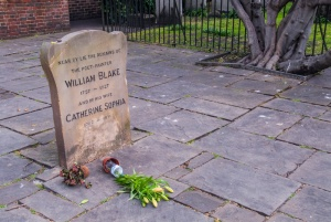 Blake's burial site at Bunhill Fields, London