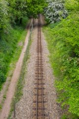 Bure Valley Railway, The railway line near Coltishall