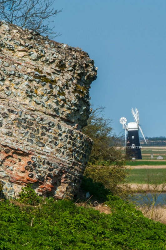 Berney Arms Windmill from Burgh Castle