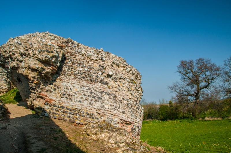 A collapsed Roman bastion