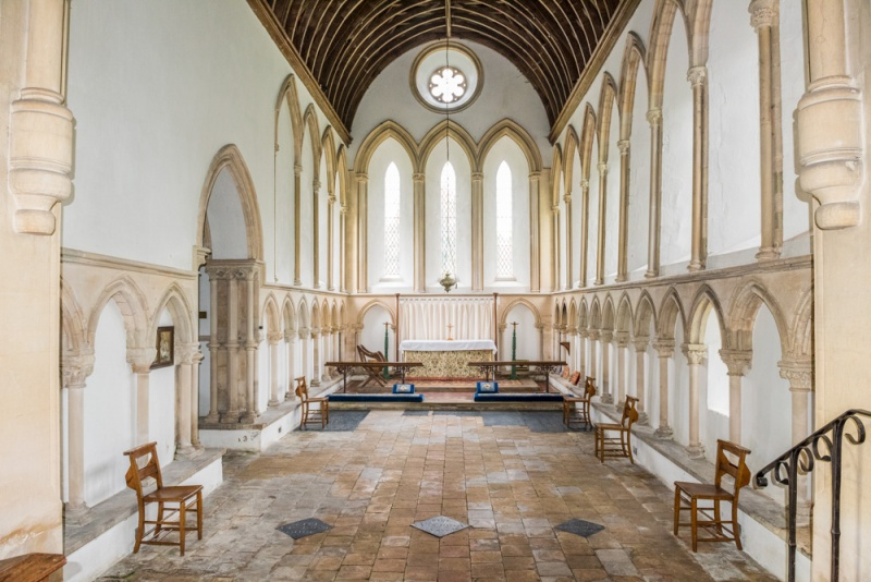 The remarkable Early English chancel
