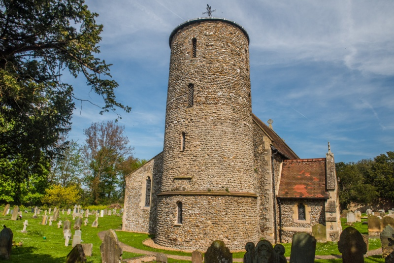 The Saxon tower of Burnham Deepdale Church