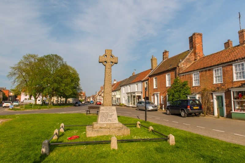 The Green and war memorial in Burnham Market
