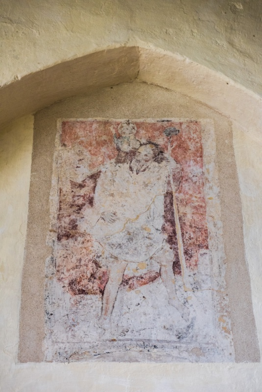 15th century St Christopher wall painting