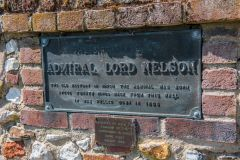 The plaque marking Admiral Nelson's birthplace