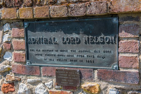 Burnham Thorpe photo, The plaque marking Admiral Nelson's birthplace