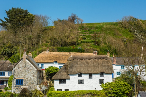Barn Hill cottages from St Mary's church
