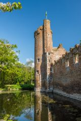 Caister Castle, The castle tower and moat