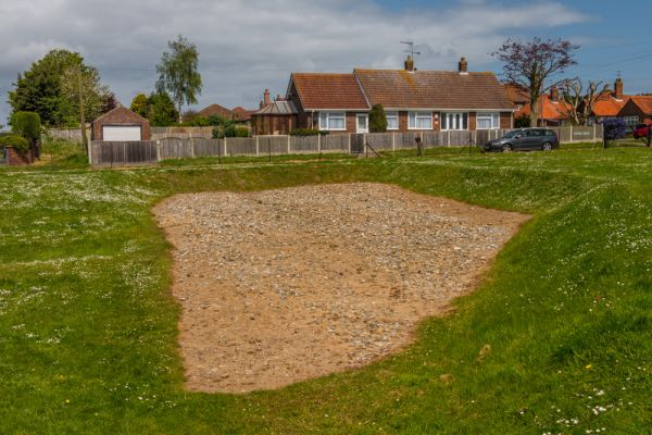 Caister Roman Fort photo, A section of intact Roman road