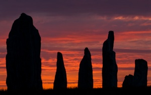 Red sky at morning - Callanish