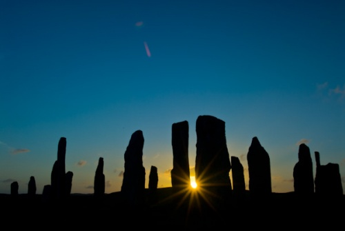 Callanish at sunset, Midsummer's Eve