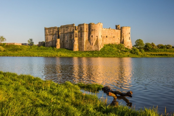 Carew Castle and mill pond