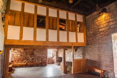 A recreated medieval minstrel's gallery