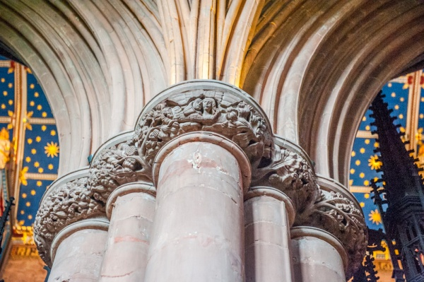 The superbly carved Choir capitals