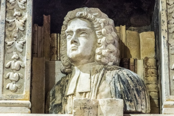Richard Prichard memorial, 1712, in St Peter's Church, Carmarthen