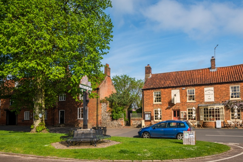The village green in Castle Acre