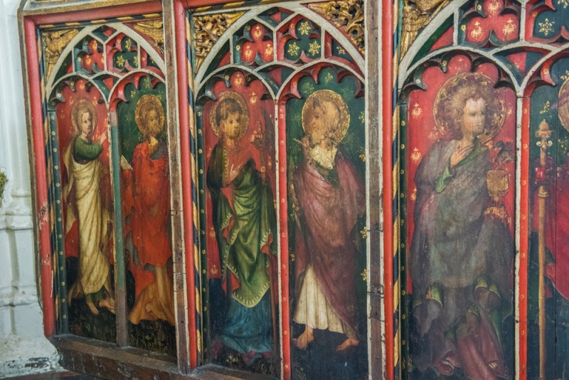The 15th century rood screen base