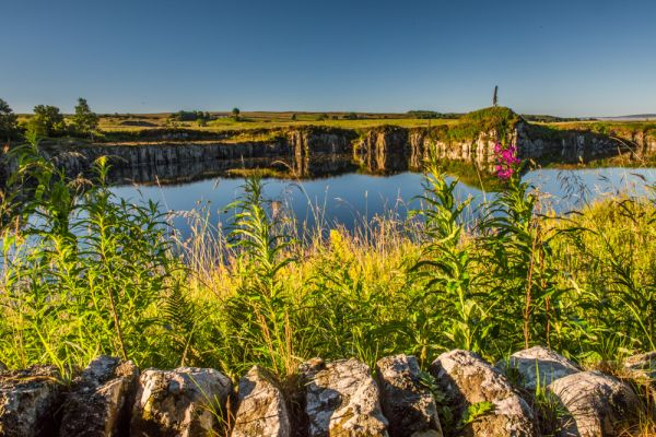 Cawfields Roman Wall (Hadrian's Wall) photo, Dawn at Cawfield reservoir