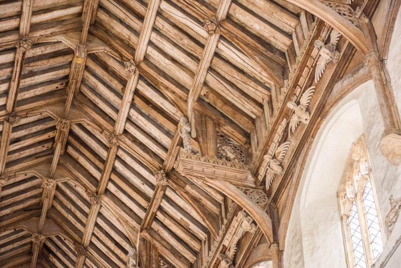 The superb late medieval angel roof