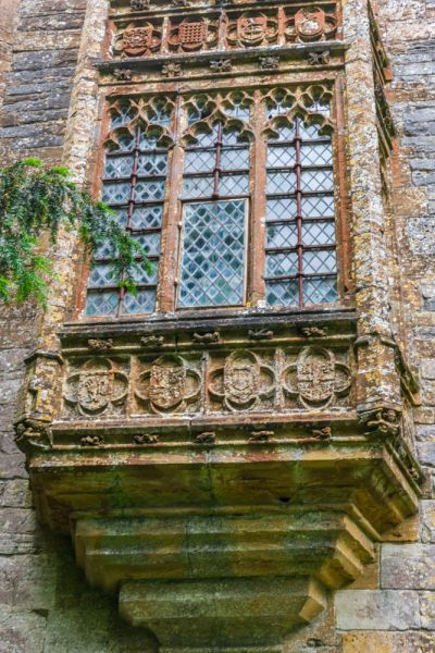 Cerne Abbey photo, Oriel window on the Abbot's Porch