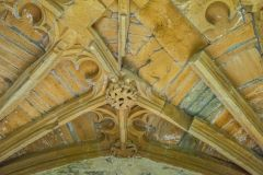 Ornate Perpendicular vaulting under the Abbot's Porch