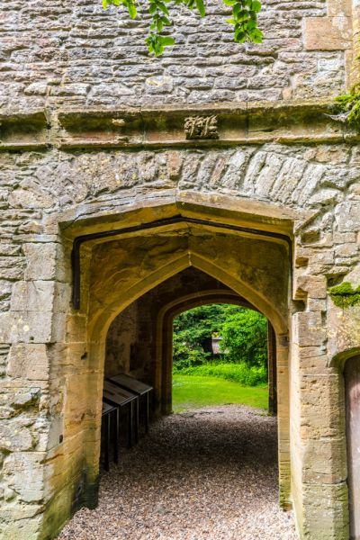Cerne Abbey photo, The reverse side of the Abbot's Porch archway