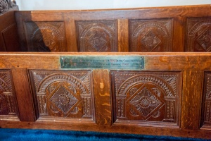 Carved chancel benches
