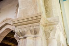 Charminster, St Mary's Church, 12th century nave capitals
