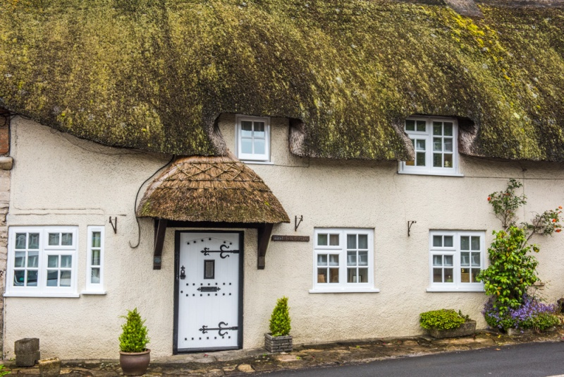 Thatched cottage on West Hill, Charminster