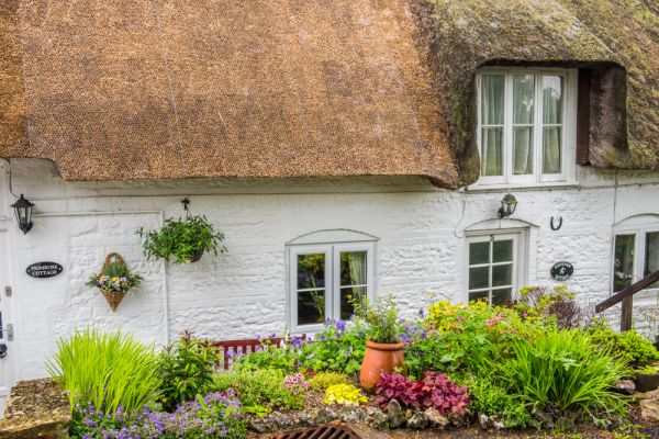 Charminster photo, Thatched cottage on Mill Lane