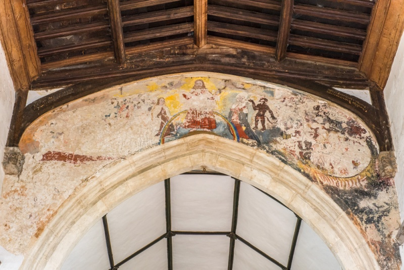 The 14th century 'Doom' wall painting