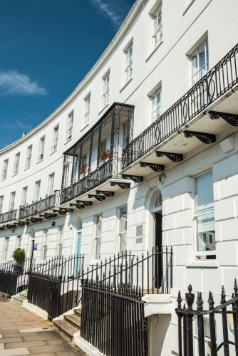 Regency terrace in Cheltenham, Gloucestershire