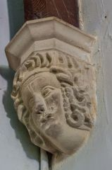 Chettle, St Mary's Church, 19th century corbel head