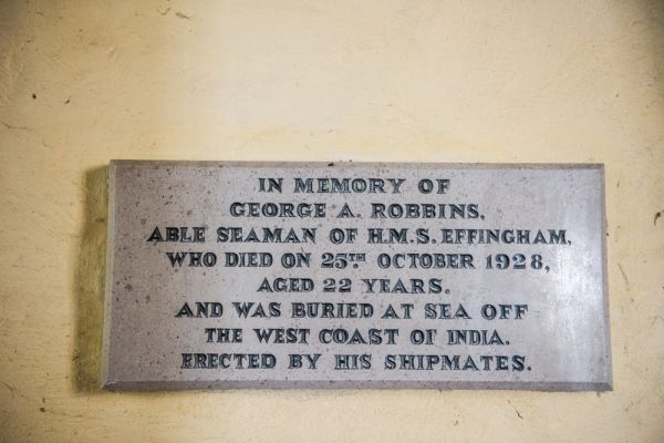 Chilbolton, St Mary-the-Less Church photo, Memorial to seaman George Robbins