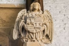 Childrey, St Mary's Church, Medieval carved angel corbel