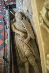 Childrey, St Mary's Church, 14th century effigy of a knight