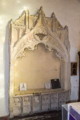 Childrey, St Mary's Church, The 14th century Easter Sepulchre