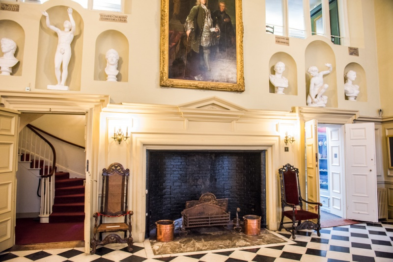 The ornate entrance hall of Christchurch Mansion