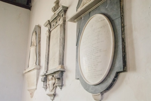 17th-18th-century memorial tablets