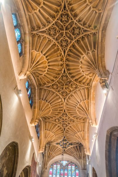 Cirencester, St John the Baptist photo, Fan vaulting in St Catherine's CHapel
