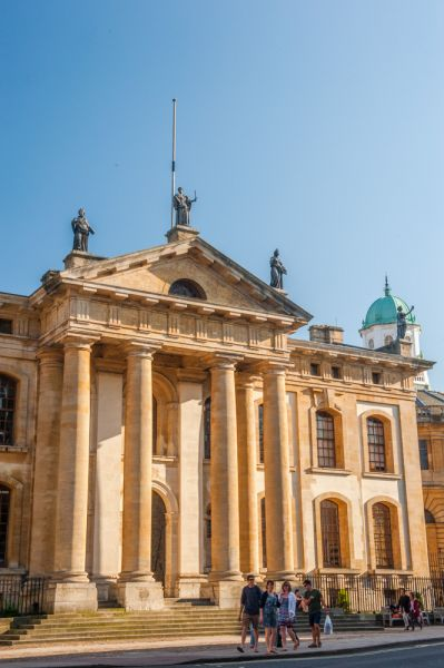 Clarendon Building, Oxford photo, The Broad Street facade with the Sheldonian Theatre beyond