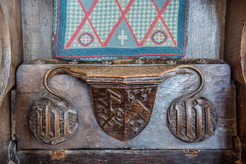 Medieval misericord carving