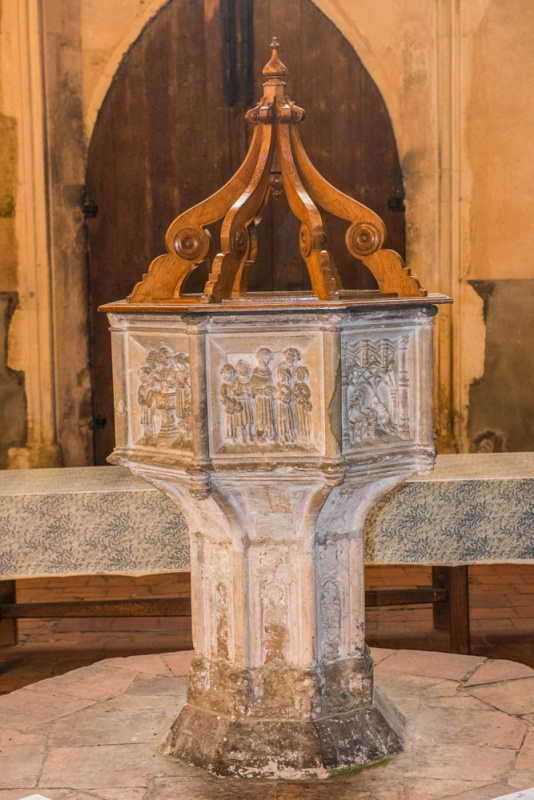 The 15th century Seven Sacrament font