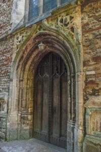 The west doorway of the tower