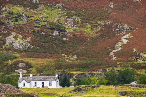 The Coniston youth hostel across the beck